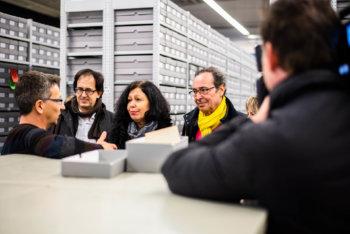 Die Familie von Braulia Canovas Mulero bei ihrem Besuch in Bad Arolsen im Dezember 2018