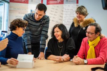 Die Familie von Braulia Canovas Mulero bei ihrem Besuch in Bad Arolsen im Dezember 2018.4