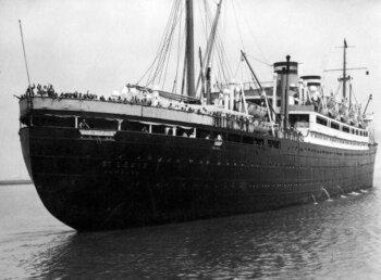 The St Louis passenger ship