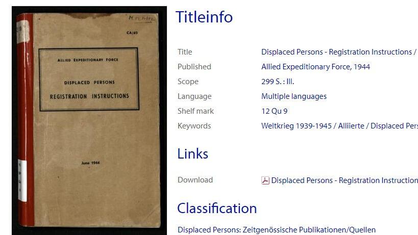 Arolsen Archives publishing new Online Library