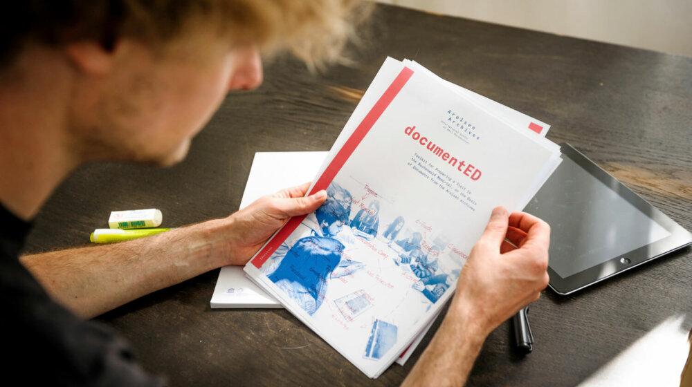 Forschendes Lernen beim Gedenkstättenbesuch:</p> <p>Interview zu documentED </p> <p>