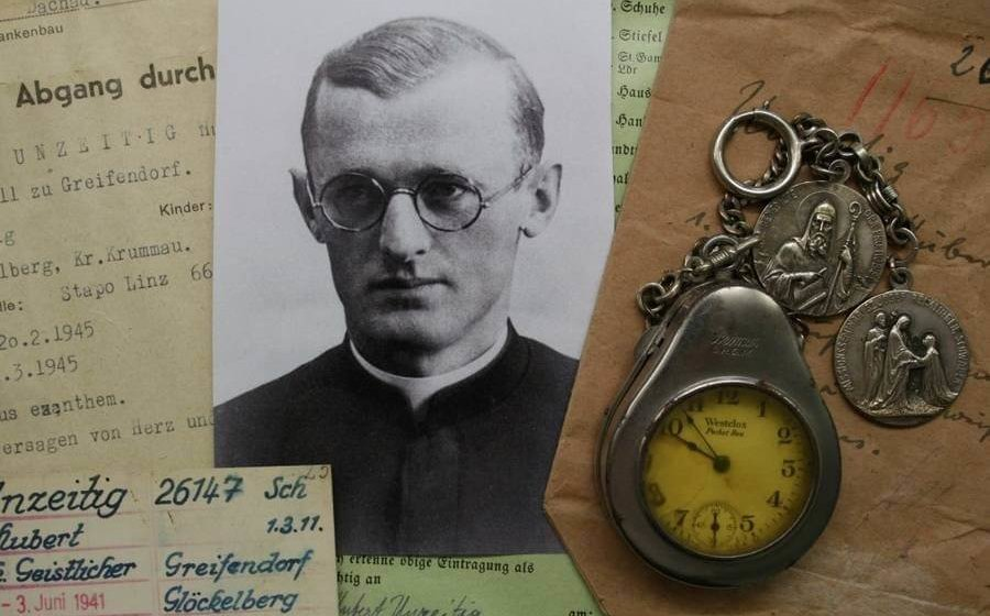 Father Unzeitig's religious medals